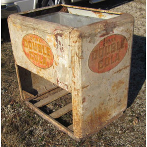 antique double cola cooler