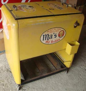 Ma's Rootbeer Antique Soda Cooler